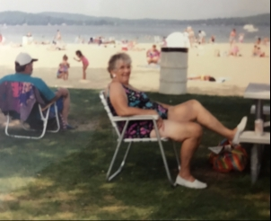 Mom at Weirs Beach
